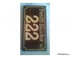 Engraved Wood Company and Hause Number Production/D/