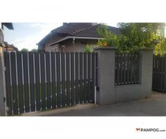 Fence strips made of galvanized steel. Replace the old wooden fence. Shipping to Europe *. No mainte